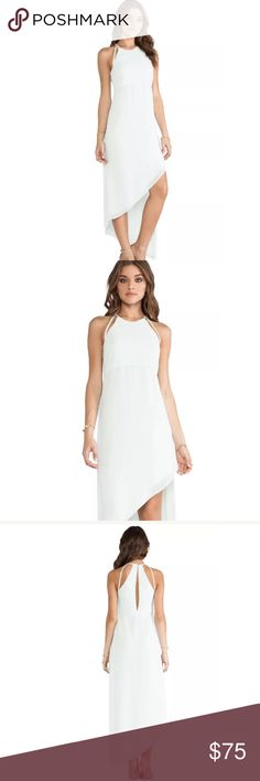 BCBGeneration Asymmetrical Dress in Whisper •Self & Lining: 100% poly •Fully lined •Asymmetric hem •Back keyhole with button closure •Comes from a smoke-free/pet-free home •Feel free to contact me with any questions! BCBGeneration Dresses Maxi