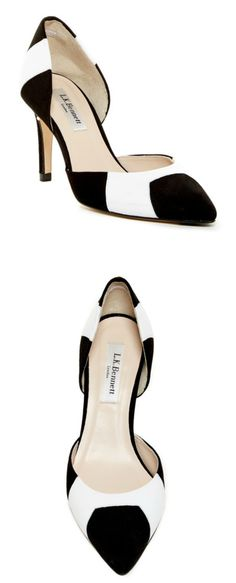 Leather and Suede Contrast Pump 47% off!! | Nordstrom Rack