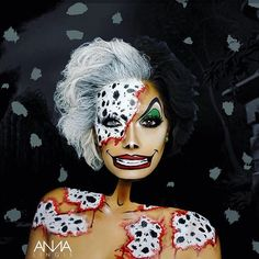 Halloween Ideas for Women Cosplay Makeup, Costume Makeup, Disney Makeup, Disney Character Makeup, Disney Characters Costumes, Monster Makeup, Extreme Makeup, Halloween Makeup Looks, Disney Halloween Makeup