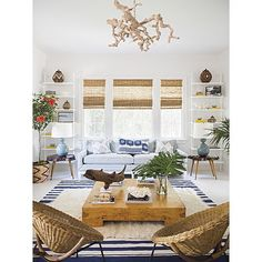 """""""Easy & breezy...love this fabulous carefree space designed by @annaburkeinteriors! What do you think of it?"""" Photo taken by @scoutandnimble on Instagram, pinned via the InstaPin iOS App! http://www.instapinapp.com (07/01/2015)"""