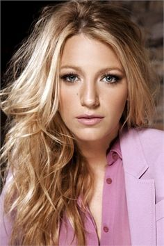 Blake Lively and Gucci Resort 2013 Pink Blouse Photograph