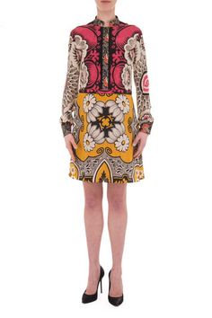 Valentino silk multicolour dress - LuxuryProductsOnline