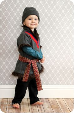 submitted by: Amy Description: Don't leave out the boys in the Frozen fun! With this Kristoff inspired Costume Tutorial you'll have your little guy ready for Halloween or everyday dress-up fun in no time! Get more details → Related Kristoff Costume, Frozen Costume, Boy Costumes, Disney Costumes, Halloween Costumes, Halloween Sewing, Halloween Kids, Halloween 2015, Sewing Patterns For Kids