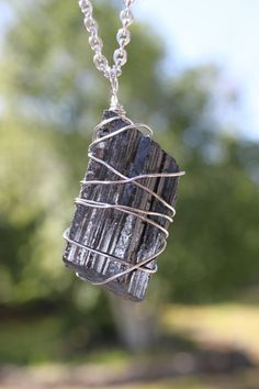 Black Tourmaline stainless steel wire wrapped by CrystalAffinity, $22.95