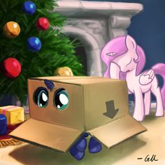 Cooler alicorn blue body blue eyes box christmas christmas tree duo equine eyes closed facehoof facepalm female filly fireplace foal generation 4 giantmosquito gift hair holidays horn long hair ornament pink hair pony present princess princess celestia My Little Pony Drawing, Mlp My Little Pony, My Little Pony Friendship, Princesa Celestia, Celestia And Luna, Imagenes My Little Pony, Fanart, Nightmare Moon, Mlp Fan Art
