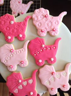 Baby Shower Carriage and Onsie cookies by TheSweetCakeCo on Etsy, $36.00