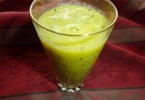 Alma-kivi-narancs smoothie Fruit Drinks, Healthy Drinks, Beverages, Cocktail Drinks, Cocktails, Nutribullet, Smoothies, Vitamins, Food And Drink
