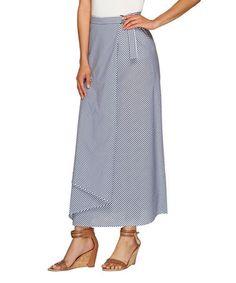 Love this Twilight Blue Stripe Wrap Skirt - Plus Too on #zulily! #zulilyfinds
