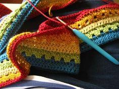 Free crochet pattern-Easy double crochet blanket for single bed