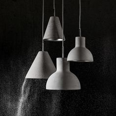 The Casle Cone pendant light, made of concrete and steel, is equally well suited to residential and contract applications.