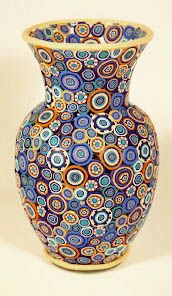 "polymer clay vases | This vase is covered usi ng my ""Family Tree Rings"" polymer clay ..."