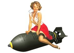 nose art pin up Pin Up Girl Vintage, Retro Pin Up, Vintage Pins, Nose Art, Dibujos Pin Up, Vargas Girls, Airplane Art, Airplane Room, Pin Up Posters
