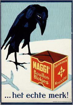 Affiche pour les cubes de bouillon Maggi – het echte merk! (1900-1925) dessinateur inconnu