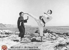 Bruce Lee (Jeet Kune Do) and John Rhee (Tae Kwon Do)