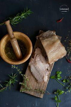 Atrapada en mi cocina: LOMO A LA SAL CON SALSA CHIMICHURRI (RETO EL ASALTA BLOGS)