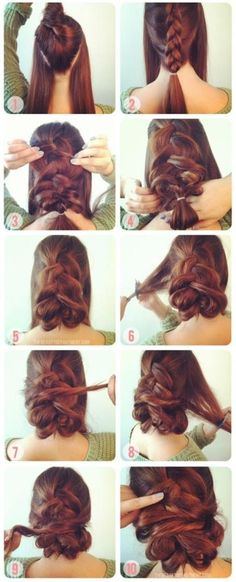 Wedding Hairstyles ~ How to do: Simple braiding