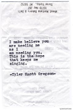 Typewriter Series #906 by Tyler Knott Gregson *It's official, my book, Chasers of the Light, is out! You can order it through Amazon, Barnes and Noble, IndieBound or Books-A-Million *