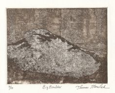 BIG BOULDER original limited edition etching by printsnat on Etsy
