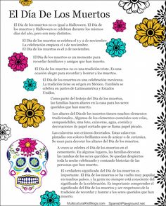 Day of the dead facts help children learn about the tradition.