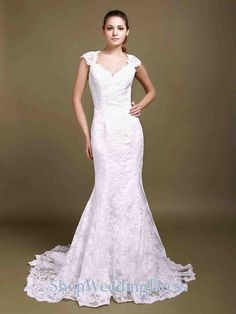 Lace Wedding Dress With Cap Sleeves 1