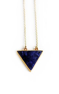 BERMUDA necklace sodalite by keijewelry on Etsy, $55.00 Fashion, Bermuda Necklaces, Clothing, Bling Bling Jewels, Triang... - Jewellery And Watches
