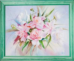 Peony by ArtforInterior on Etsy Vintage Wood, Peony, Home Art, Oil On Canvas, Best Gifts, Create, Painting, Antique Wood, Painting Art