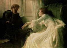 The Confession (1896), Sir Frank Dicksee #art #painting