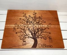 Family Tree Personalized Cutting Board by WildFireFlies on Gourmly