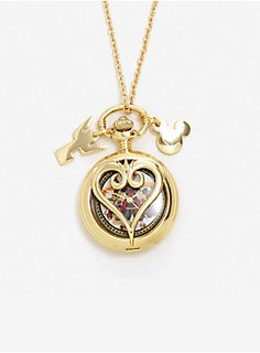 Disney Kingdom Hearts Pocket Watch Necklace | Hot Topic