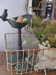 Chateau Chic - Flower frogs, nest, ironstone