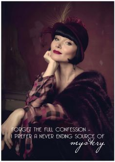 "Miss Fisher ""I prefer Mystery"" quote from Season 3, episode 2"