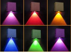 Light up your home with these sleek modern LED cube wall lamps! Suitable for voltage: 90 - & Power Source: AC LED light included. Installation: Wall Mounted Free Worldwide Shipping & Money-Back Guarantee Metal Wall Panel, Wall Panel Design, Backyard Lighting, Porch Lighting, Modern Led Ceiling Lights, Wall Lights, Beauty Salon Decor, Homemade Furniture, Modern Lighting Design