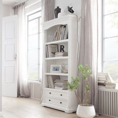 Westmont Standard Bookcase – Modern Home Office Design Bookcase With Drawers, Ladder Bookcase, Bookshelves, Baby Bookshelf, Hygee Home, The Calling, White Office, Home Office Design, Office Decor