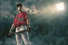 High School Senior Enhancement Session  Baseball, Sports, Batter, Clouds, Sky, Lights  Joshua Hanna Photography Cross Lanes, Charleston, Huntington, WV, West Virginia