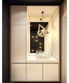 #wc #closet #mirror #sink #light #lightdesign #design #designer #woodworking #wooddesign #architecture #architecturelovers #inspiration #creative #fun #white #contrast #black #smallspace #solutions #homedecor #homedesign #deco #interior #innovative #interiordesign #fresh#simple #clean #art