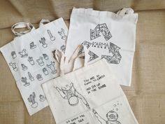 handmade, simple but original Reusable Tote Bags, Simple, Handmade, Hand Made, Handarbeit