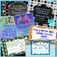 Six (and a free fraction game to make 7!) 5th grade CCSS-aligned math games…