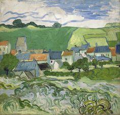 Vista de Auvers. 1890. Óleo sobre tela. Vincent van Gogh (Zundert, Países Baixos, 30/03/1853 - 29/07/1890, Auvers-sur-Oise, França). Encontra-se no Museu Van Gogh, em Amsterdam, Países Baixos.