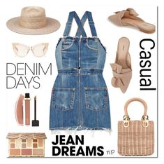 Jean Dreams by nuria-pellisa-salvado on Polyvore featuring moda, RE/DONE, Schutz, Salvatore Ferragamo and Sephora Collection
