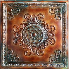 PL08 faux tin metalized ancient copper patina ceiling tiles 3D embossed Photography Background panels boards 10tiles/lot by Fauxpaintceilingtile on Etsy