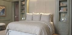 bedroom colors with great built-ins