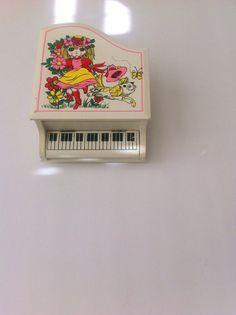 Music Box Jewelry Box Piano Shape Mod Moody Girl With by Pesserae, $25.00