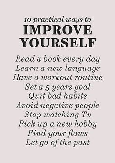 'Improve yourself, motivational list for good habits, workout, daily routine, set life goals' Poster by Spallutos Herbalife, How To Better Yourself, Finding Yourself, Improve Yourself Quotes, Better Yourself Quotes, How To Look Better, Encouragement, Pin On, Self Care Activities