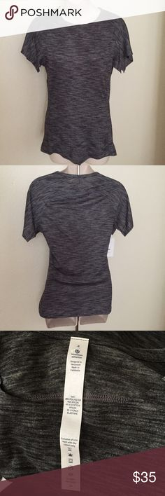 Lululemon Fitted Short Sleeve T-Shirt size 4 Grey This is a Perfect workout shirt from Lululemon. Size 4. Dark grey with short sleeves. Never been worn. No flaws. lululemon athletica Tops Tees - Short Sleeve