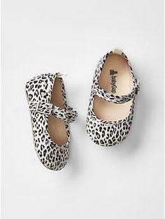 Leopard print mary jane flats