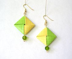 Origami boucles d'oreilles Boucles par PaperImaginations sur Etsy, $17.50