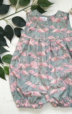 Handmade flamingo print romper ashleyrosemade on etsy Fashion Kids, Baby Girl Fashion, Frocks For Girls, Little Girl Dresses, Baby Girl Dress Patterns, Baby Girl Shoes, Flamingo Print, Cute Baby Clothes, Baby Wearing