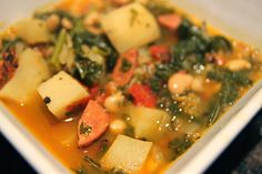 The Wife of a Dairyman ~ Churned in Cali: Easy Portuguese Kale and Linquica Soup