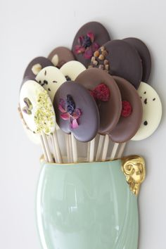 Shelly's lovely looking chocolate lollies