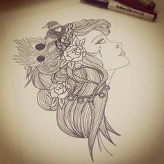 Gypsy drawing